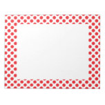 Red on White Polka Dot Memo Notepads