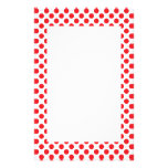 Red on White Polka Dot Personalized Stationery