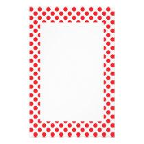 Red on White Polka Dot Stationery