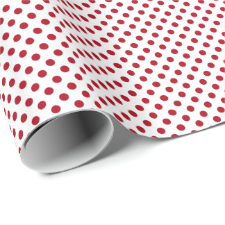 Red on White Polka Dot Wrapping Paper