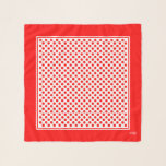 "Red on White Polka Dots Square Chiffon Scarf<br><div class=""desc"">Red on White Polka Dots Square Chiffon Scarf.  Optional Initial Monogram.</div>"