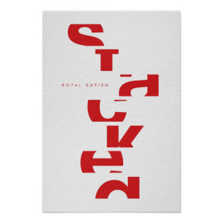 Red on white STACKED logo Posters