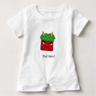 Red Oni Baby Romper