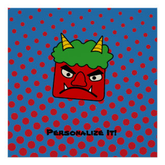 Red Oni Poster