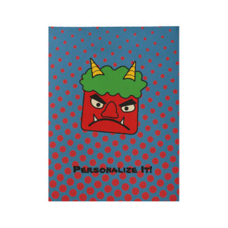 Red Oni Wood Poster