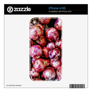 Red Onion iPhone 4 Skins