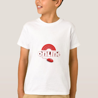 Red Online Computer Mouse T-Shirt