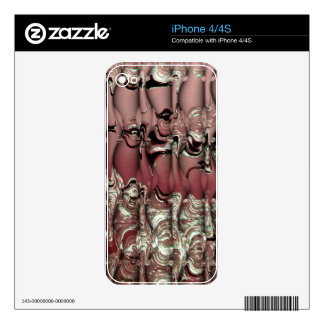 Red Ooze iPhone 4S Skin