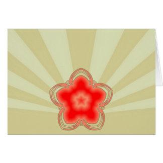 Red Opium Lotus Greeting Card