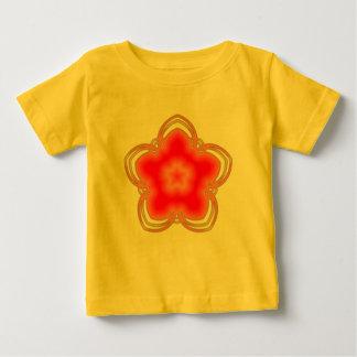 Red Opium Lotus Flower Baby T-Shirt