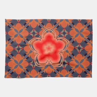 Red Opium Lotus Flower Towel