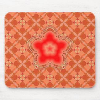 Red Opium Lotus Flower Mouse Pad