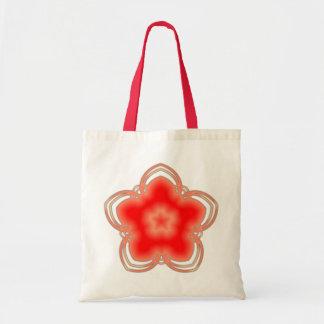 Red Opium Lotus Flower Tote Bag