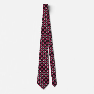 Red Optical Illusion Chess Board Men's Tie