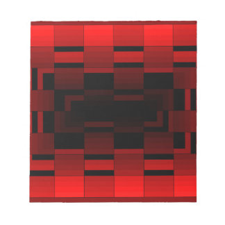 Red Optical Illusion Design CricketDiane Notepads