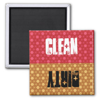 Red or Gold Stars Clean Dirty Dishwasher C304 2 Inch Square Magnet
