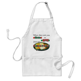 Red or Green... or Christmas? Adult Apron