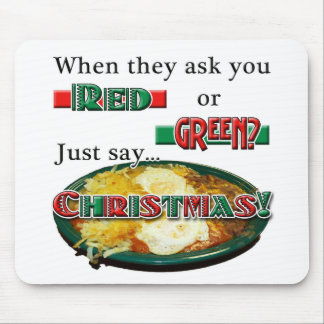 Red or Green... or Christmas? Mousepad
