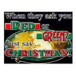 Red or Green... or Christmas? Postcards
