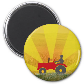 Red or Green Tractor Magnet
