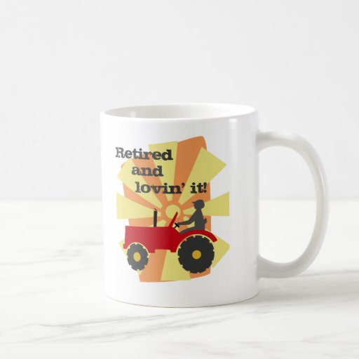 Red or Green Tractor Retirement Mug