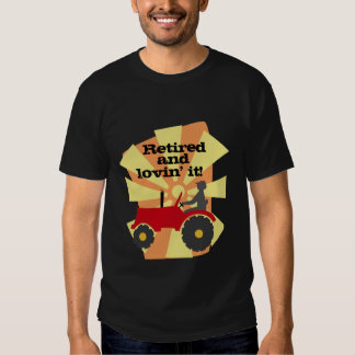Red or Green Tractor Retirement T-Shirt