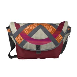 Red&Orange Abstract Snakeskin Tortoise Shell Bag Messenger Bag
