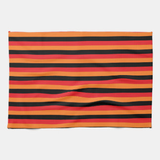 Red, Orange and Black Stripes Kitchen Towels