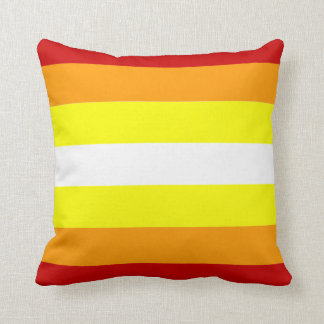 Red orange and yellow pattern pillow