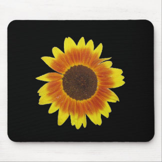 Red, orange, and yellow sunflower mouse pad