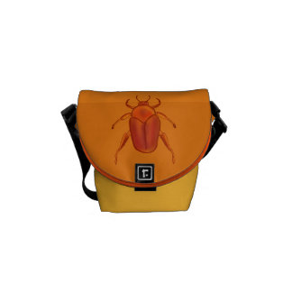 Red-Orange Beetle Messenger Bag