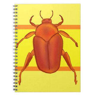 Red-Orange Beetle Notebook