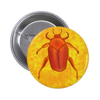 Red-Orange Beetle Pinback Button