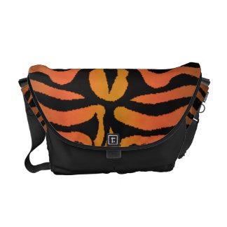 Red Orange Black Tiger Zebra Messenger Bag