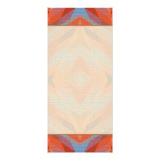 Red Orange Blue Geometric Knitted Look Rack Card