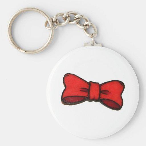 red-orange bow keychain