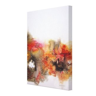 Red Orange Brown Abstract Art Canvas