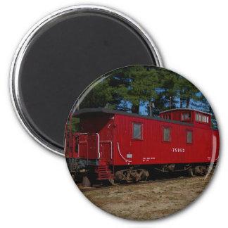 Red & Orange Caboose Magnet