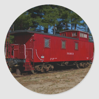 Red & Orange Caboose Stickers