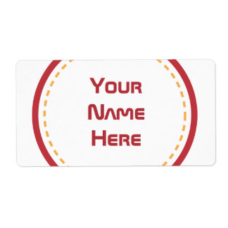Red Orange Circle Personalized Shipping Label
