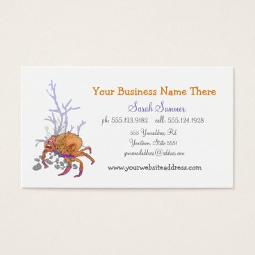 Professional Business Red-Orange Crab Stylish Business Cart by Ezartesa Business Card