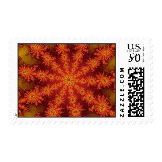 Red Orange Decasteer Postage Stamp