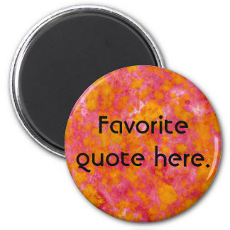 Red & Orange Dip Dyed Watercolor Customizable Magnets