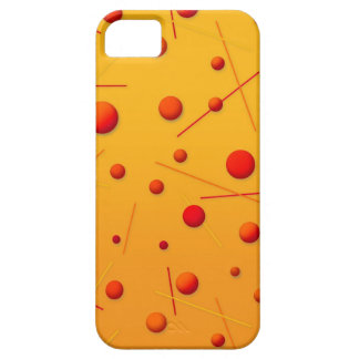 Red Orange Dots and Lines Fun Pattern Art iPhone SE/5/5s Case