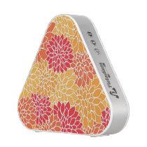 Red/Orange Floral Pattern Bluetooth Speaker