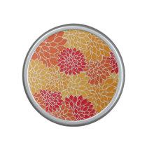 Red/Orange Floral Pattern Bumpster Speaker