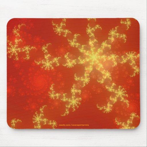Red Orange Fractal Mandelbrot Design Art Mousepad