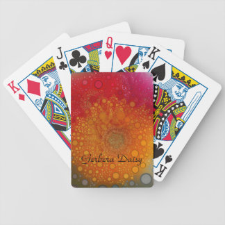 Red Orange Gerbera Daisy Pop Art Bicycle Playing Cards