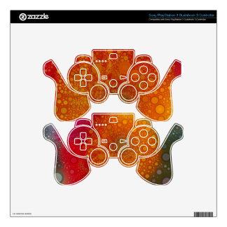 Red Orange Gerbera Daisy Pop Art PS3 Controller Decal