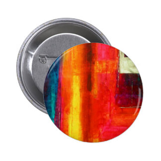 Red Orange Green Blue Color Fields Abstract Art Button